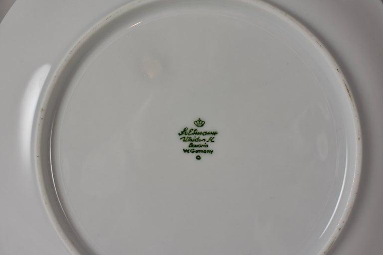 West German Selten Weiden Autumn Fruit & Nuts Porcelain Plates, Set of 8 For Sale 11