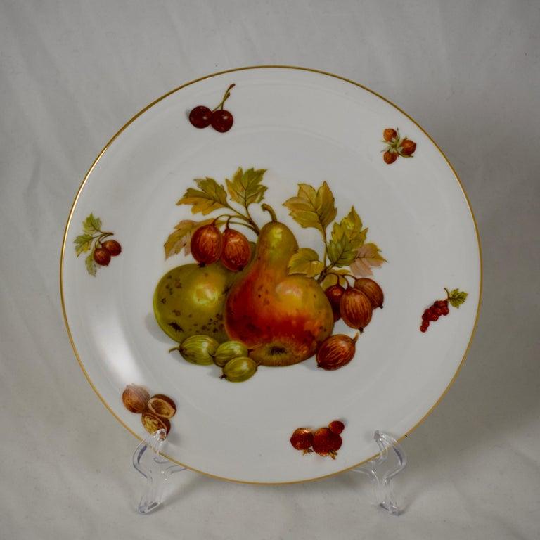 West German Selten Weiden Autumn Fruit & Nuts Porcelain Plates, Set of 8 For Sale 1