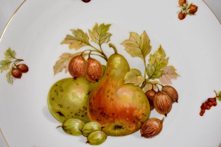 West German Selten Weiden Autumn Fruit & Nuts Porcelain Plates, Set of 8 For Sale 2