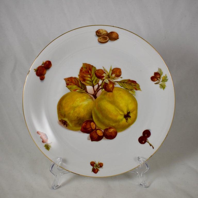 West German Selten Weiden Autumn Fruit & Nuts Porcelain Plates, Set of 8 For Sale 3