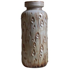 West Germany, Large Organic Floor Vase, Glazed Stoneware, Germany, 1960s