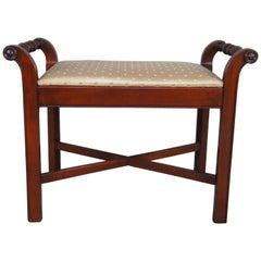 West Michigan Furniture Co. Vintage Mahogany Bench Seat Stool