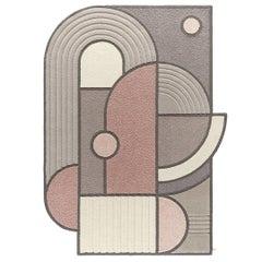 West of the Sun Rug, Rose Wool Geometric, Lara Bohinc for Kasthall 'Medium'