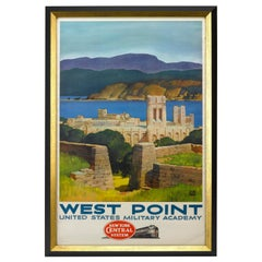 West Point Military Academy Railroad Travel Poster by Leslie Ragan, 1952