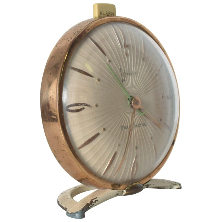 Westclox BIG BEN Brass Alarm Table Clock of Tomorrow Classic Collectible 1955
