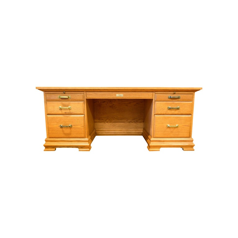 Western Art Ft. Benton Five Panel Desk For Sale 3
