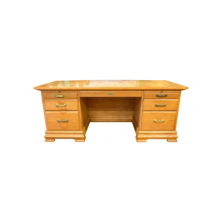 Western Art Ft. Benton Five Panel Desk For Sale 4