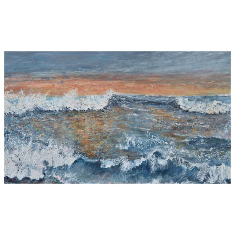 Western Promise: A Good Day Beckons, Large Contemporary Seascape Oil Painting For Sale