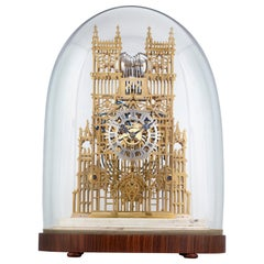 Westminster Abbey Three Train Skeleton Clock by Evans