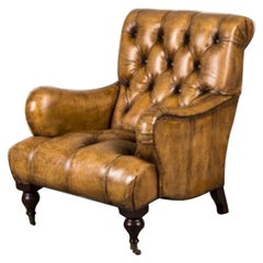 Westminster Buttoned Leather Armchair, 20th Century