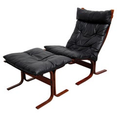 Westnofa Siesta High Back Sling Lounge Chair and Ottoman by Ingmar Relling