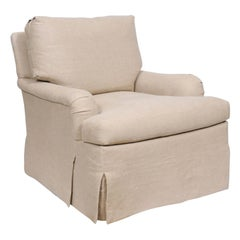 Weston Skirted Swivel Chair, by Hickory Chair