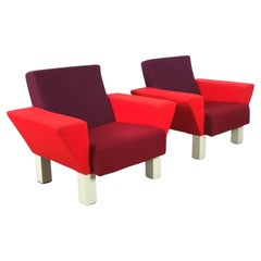 Westside Armchairs by Ettore Sottsass for Knoll, Circa 1983