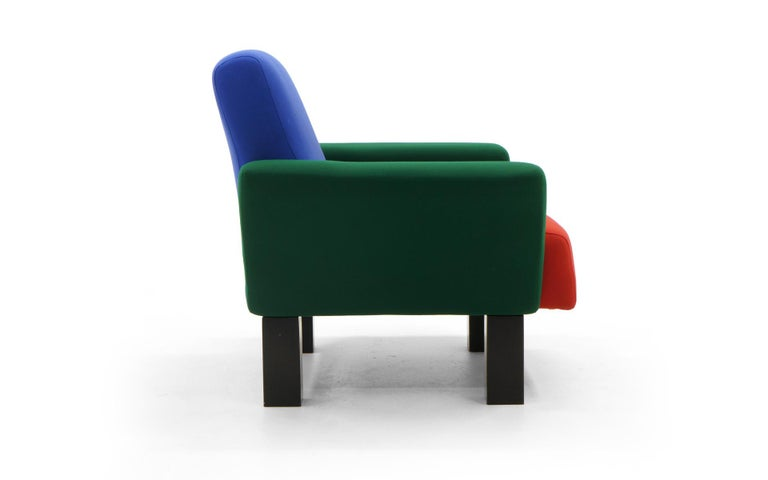 Enameled Westside Lounge Chair by Ettore Sottsass for Knoll, 1983, Expertly Reupholstered For Sale