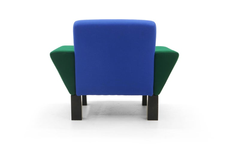 Late 20th Century Westside Lounge Chair by Ettore Sottsass for Knoll, 1983, Expertly Reupholstered For Sale