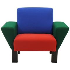 Westside Lounge Chair by Ettore Sottsass for Knoll, 1983, Expertly Reupholstered