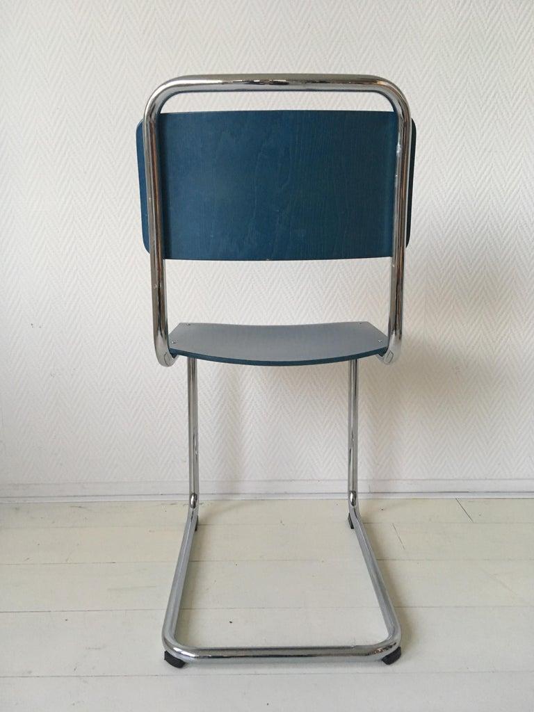 W.H. Gispen Dining Room Chairs, Model 101, Wood, Gebroeders van der Stroom, 2004 For Sale 2