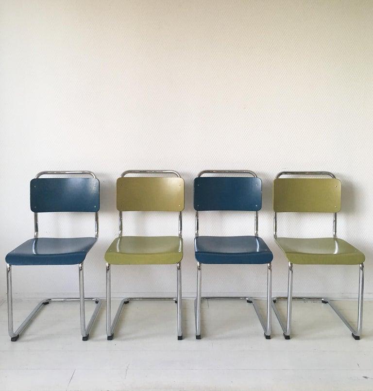 W.H. Gispen Dining Room Chairs, Model 101, Wood, Gebroeders van der Stroom, 2004 For Sale 4