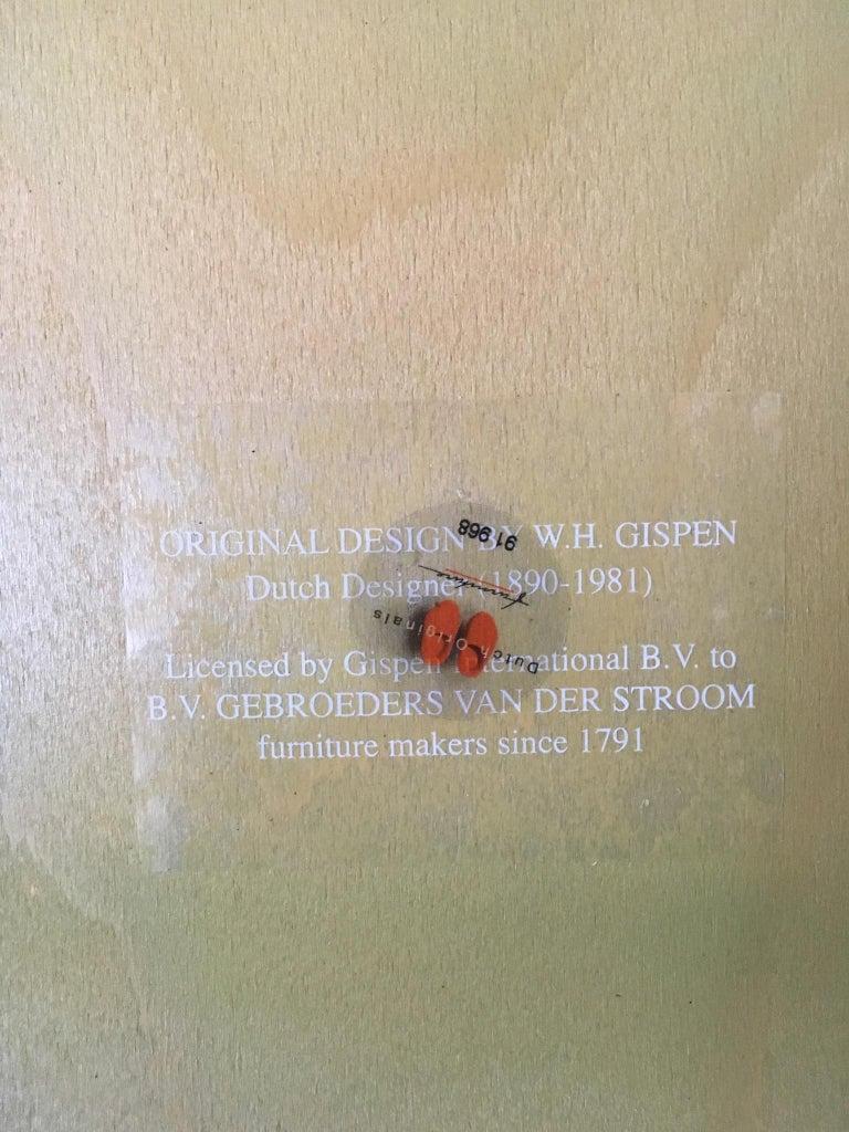 W.H. Gispen Dining Room Chairs, Model 101, Wood, Gebroeders van der Stroom, 2004 In Good Condition For Sale In Schagen, NL