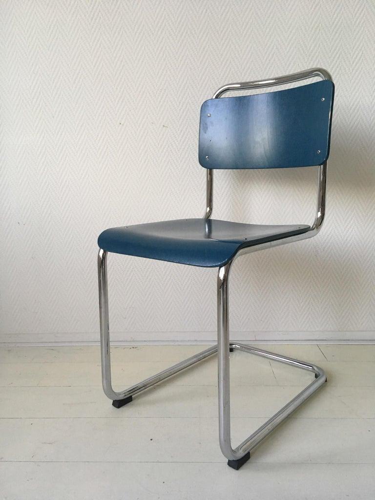 Beech W.H. Gispen Dining Room Chairs, Model 101, Wood, Gebroeders van der Stroom, 2004 For Sale