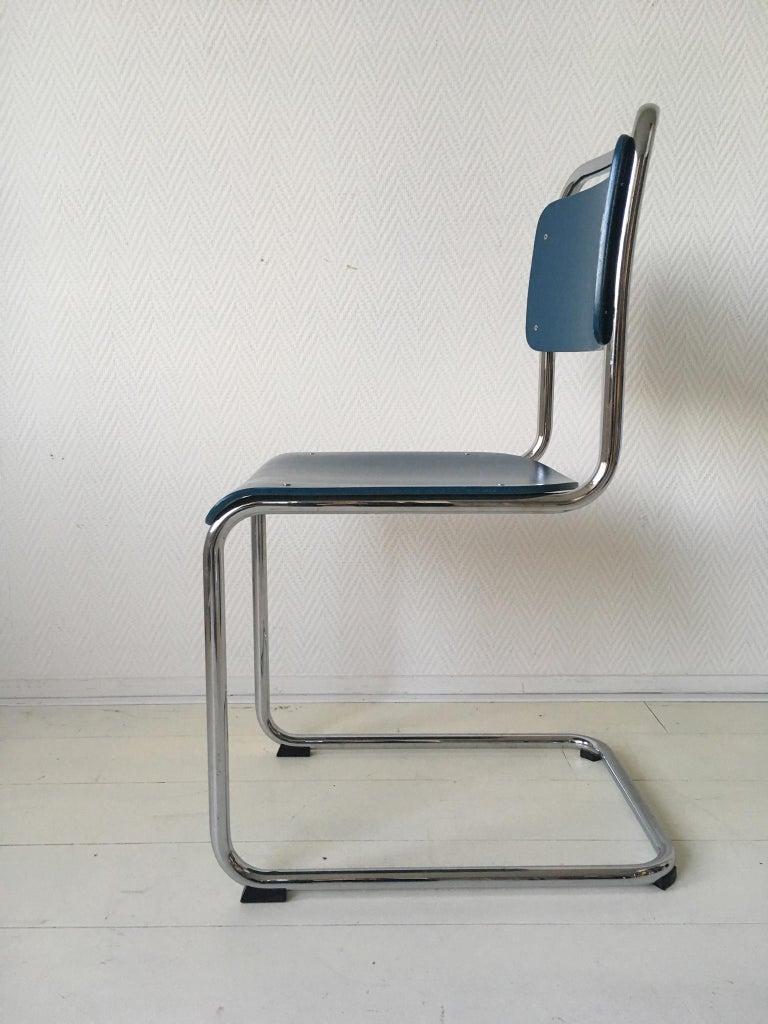 W.H. Gispen Dining Room Chairs, Model 101, Wood, Gebroeders van der Stroom, 2004 For Sale 1