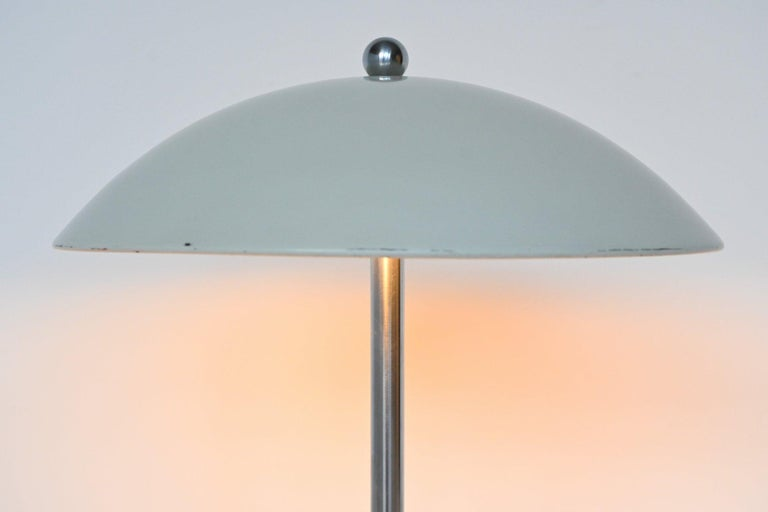 W.H. Gispen White Mushroom Table Lamp Gispen, The Netherlands, 1950 For Sale 2