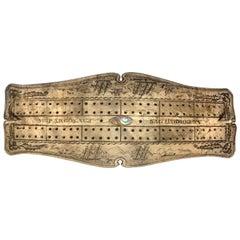 Whale Scrimshaw Cribbage Board