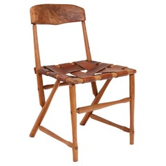 """Wharton Esherick Ash, Hickory & Leather """"Hammer Handle"""" Chair, USA 1930s"""