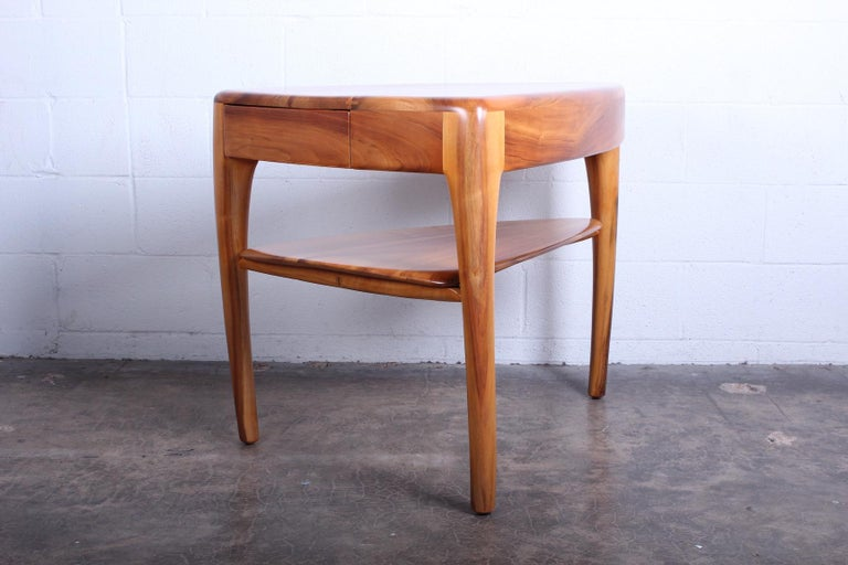 A custom table with drawer by Wharton Esherick dated 1970.