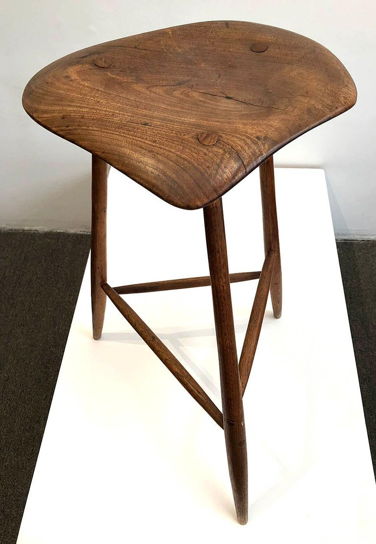 American Craftsman Wharton Esherick Wooden Stool For Sale