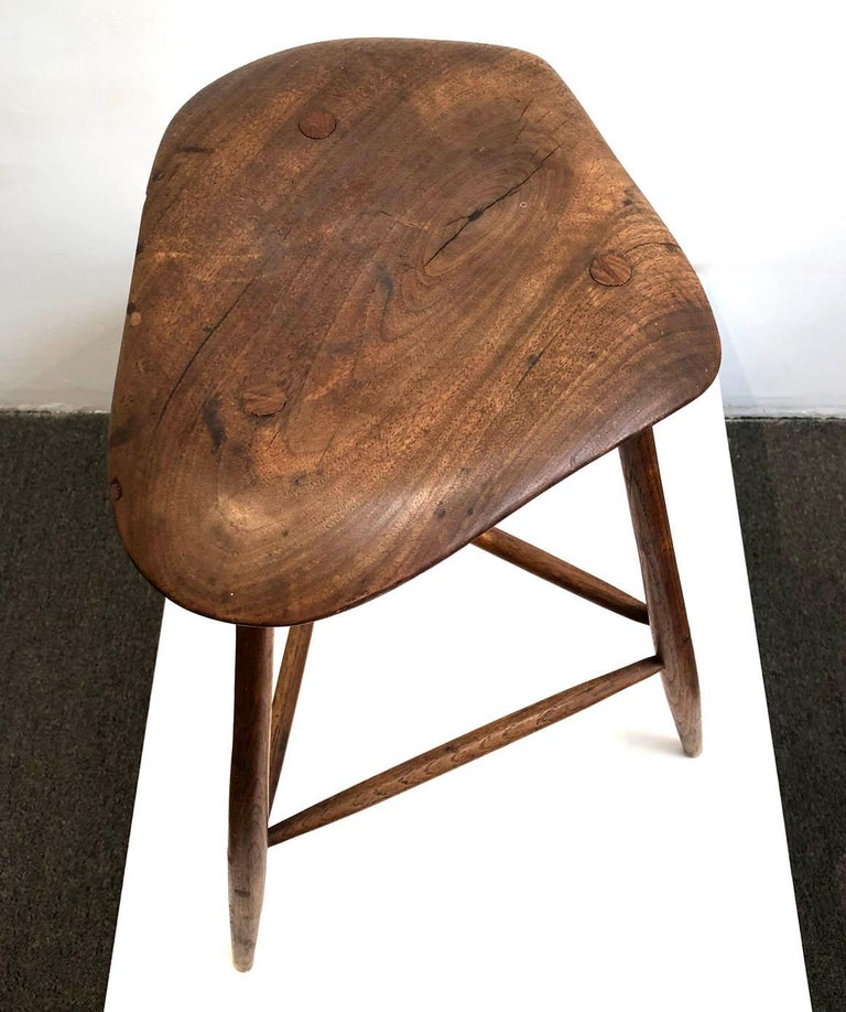 American Wharton Esherick Wooden Stool For Sale