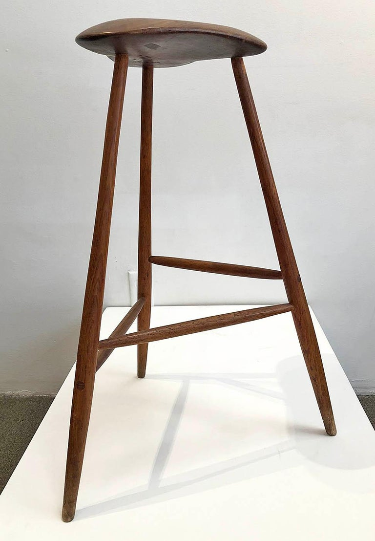 Hand-Crafted Wharton Esherick Wooden Stool For Sale