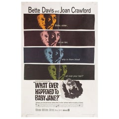 """What Ever Happened to Baby Jane?"" 1962 U.S. One Sheet Film Poster"