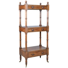 Whatnot, English, Mahogany, Three-Tier, Victorian, Display Stand, circa 1860