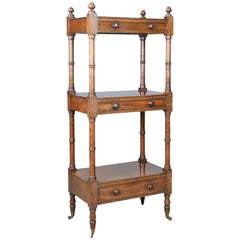 Whatnot, English, Mahogany, Three-Tier, Victorian, Display Stand, circa 1860