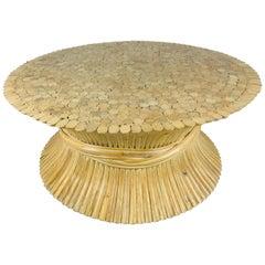 Wheat Sheath Bamboo McGuire Furniture Coffee Table Base