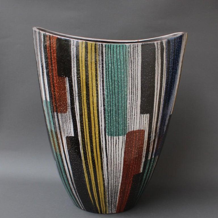 Very Large Midcentury Italian Ceramic Vase, circa 1950s For Sale 6