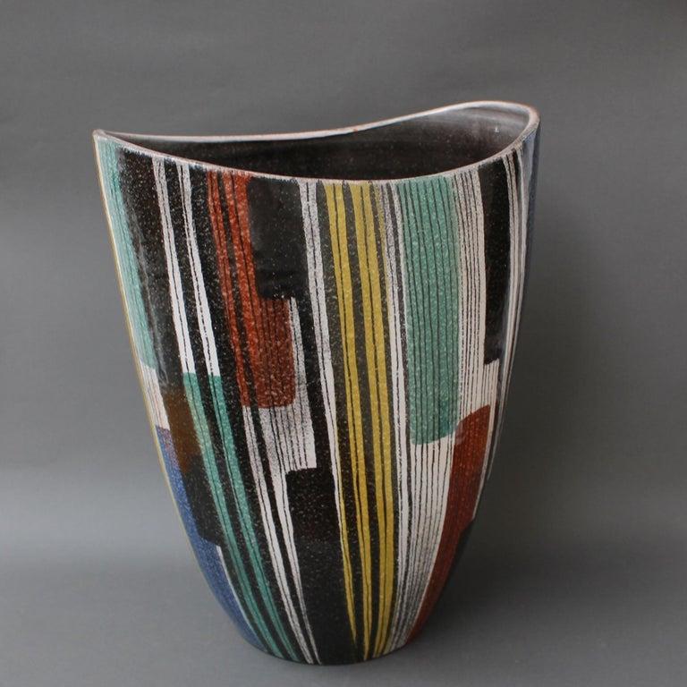 Very Large Midcentury Italian Ceramic Vase, circa 1950s For Sale 8