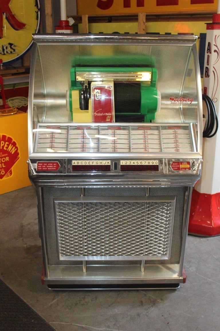 1955 Seeburg Select O Matic Model 100jl Jukebox 45 Rpm At