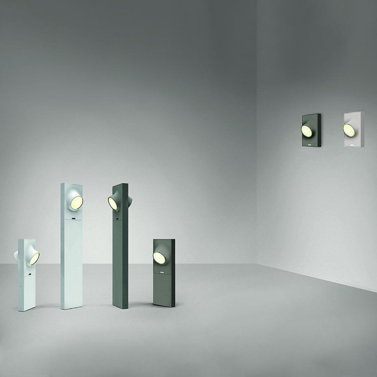 Modern Artemide Ciclope Wall Light in Gray by Alessandro Pedretti For Sale