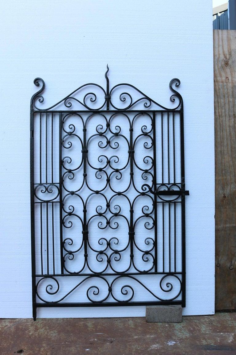 Victorian Antique Wrought Iron Pedestrian Gate For Sale