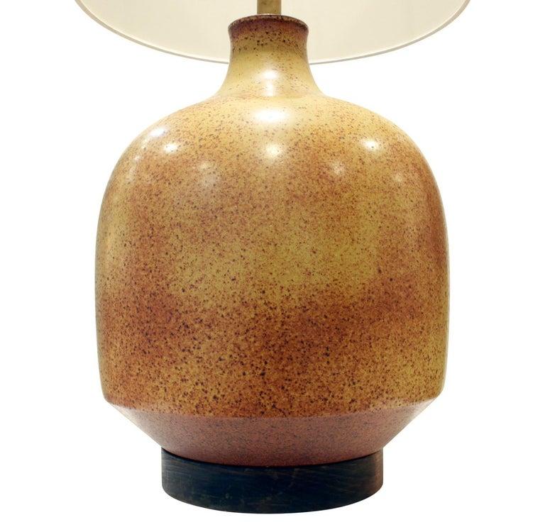 Modern David Cressey Large Studio Made Ceramic Lamp, 1960s For Sale