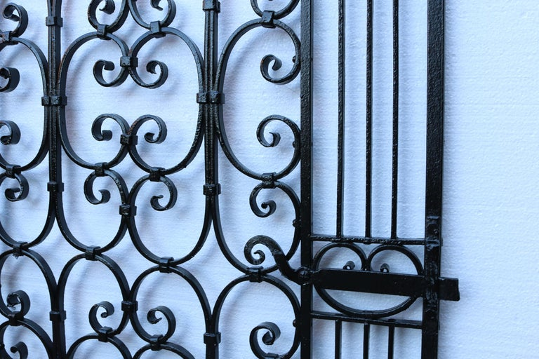 English Antique Wrought Iron Pedestrian Gate For Sale