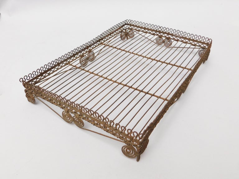20th Century  Wire Work Tray on Legs, circa 1920 For Sale