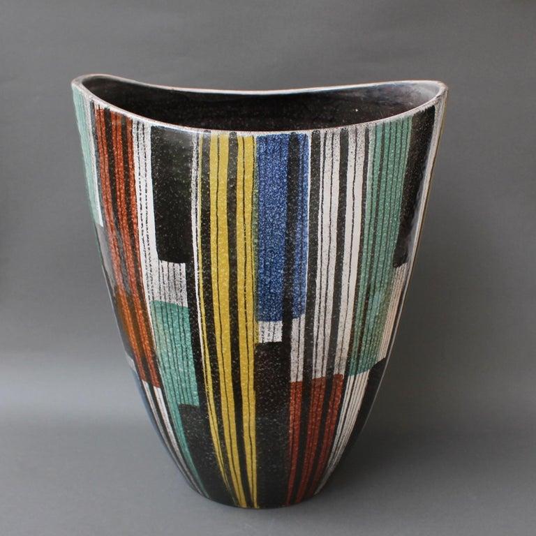 Mid-20th Century Very Large Midcentury Italian Ceramic Vase, circa 1950s For Sale