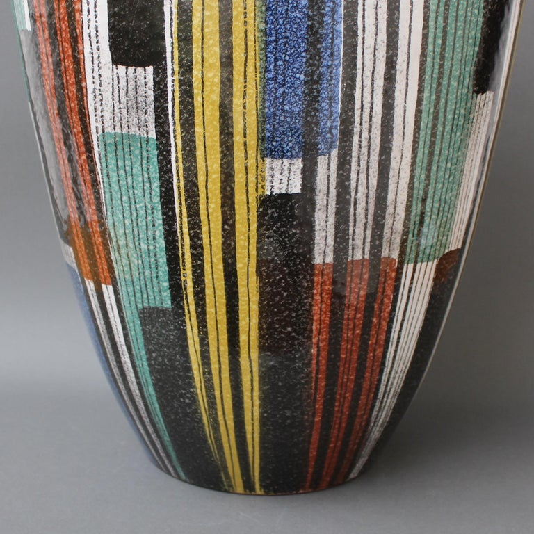 Very Large Midcentury Italian Ceramic Vase, circa 1950s For Sale 2