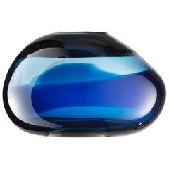 Salviati Sassi Bowl in Blue by Luciano Gaspari