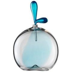 Salviati Kleine Zefiro Glass Vessel in Acquamarine von Luciano Gaspari