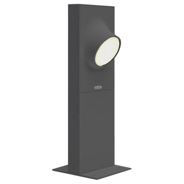 Artemide Ciclope 50 Unilateral Floor Light in Gray by Alessandro Pedretti For Sale