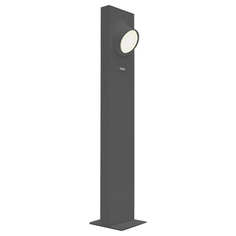 Artemide Ciclope 90 Unilateral Floor Light in Gray by Alessandro Pedretti For Sale